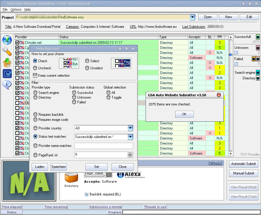 GET] GSA Auto Website Submitter Cracked – Free Download