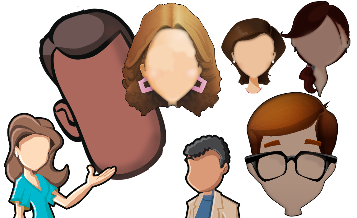 cartoon character creator - heads
