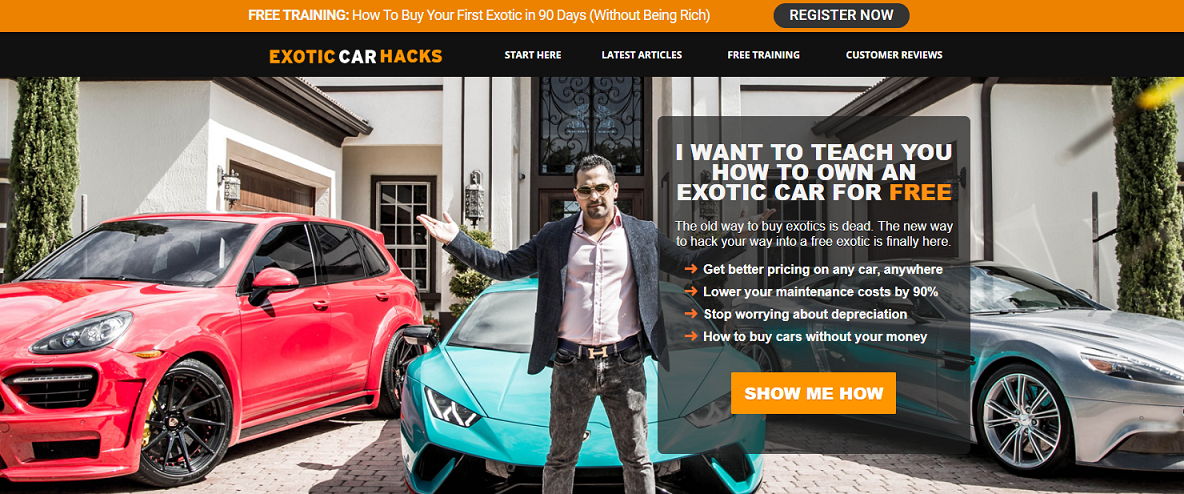 buy course  exotic car hacks  for sale second hand