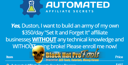 Automated Affiliate Secrets By Duston McGroarty – Free